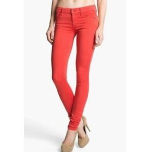 Mother The Looker Back in a Flash Skinny Pant in Cinnamon Tan 28 Anthropologie